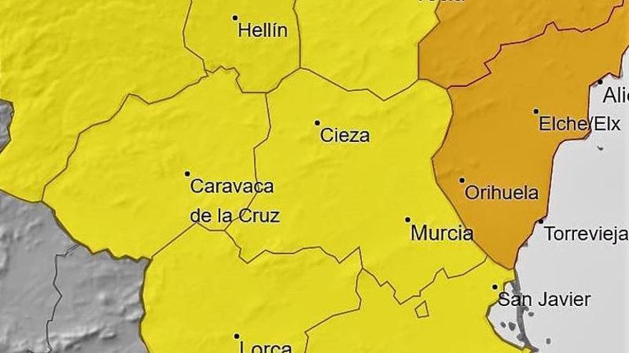 Temporal en Murcia: el 112 recibe los primeros avisos de emergencias