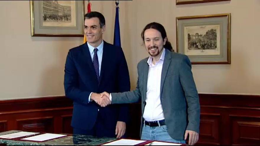 Los diez retos del Gobierno de coalición de Sánchez e Iglesias