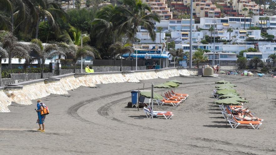 Playa de San Agustín, en San Bartolomé de Tirajana