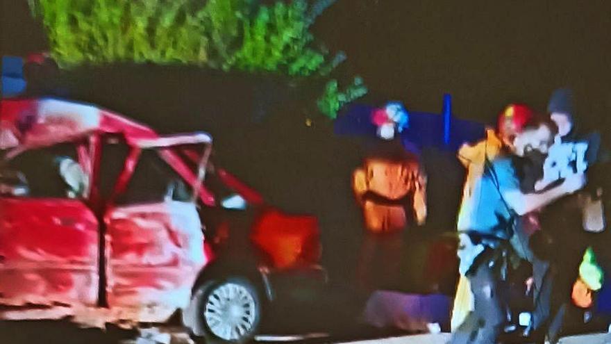 Accidente con 4 heridos en Corbera
