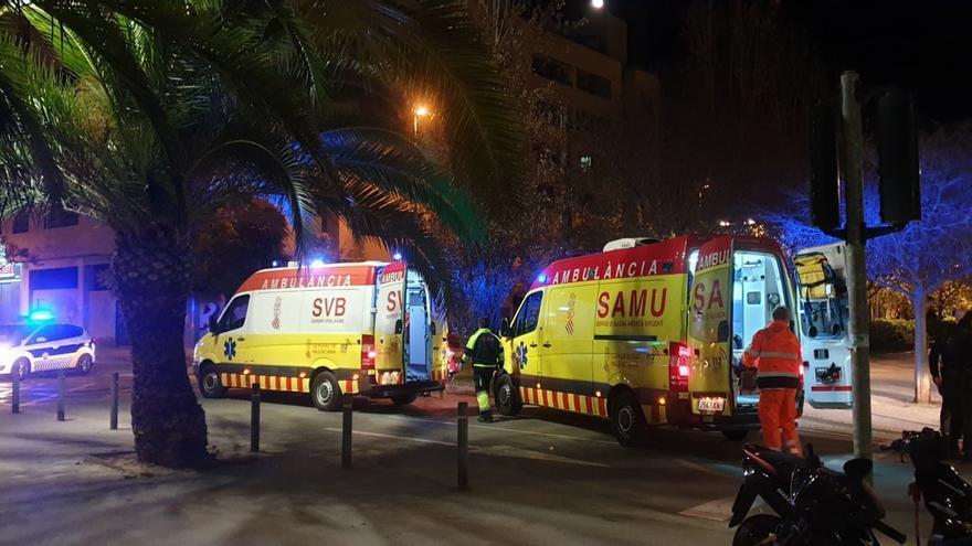 Dos personas resultan atropelladas durante la última noche en Alicante