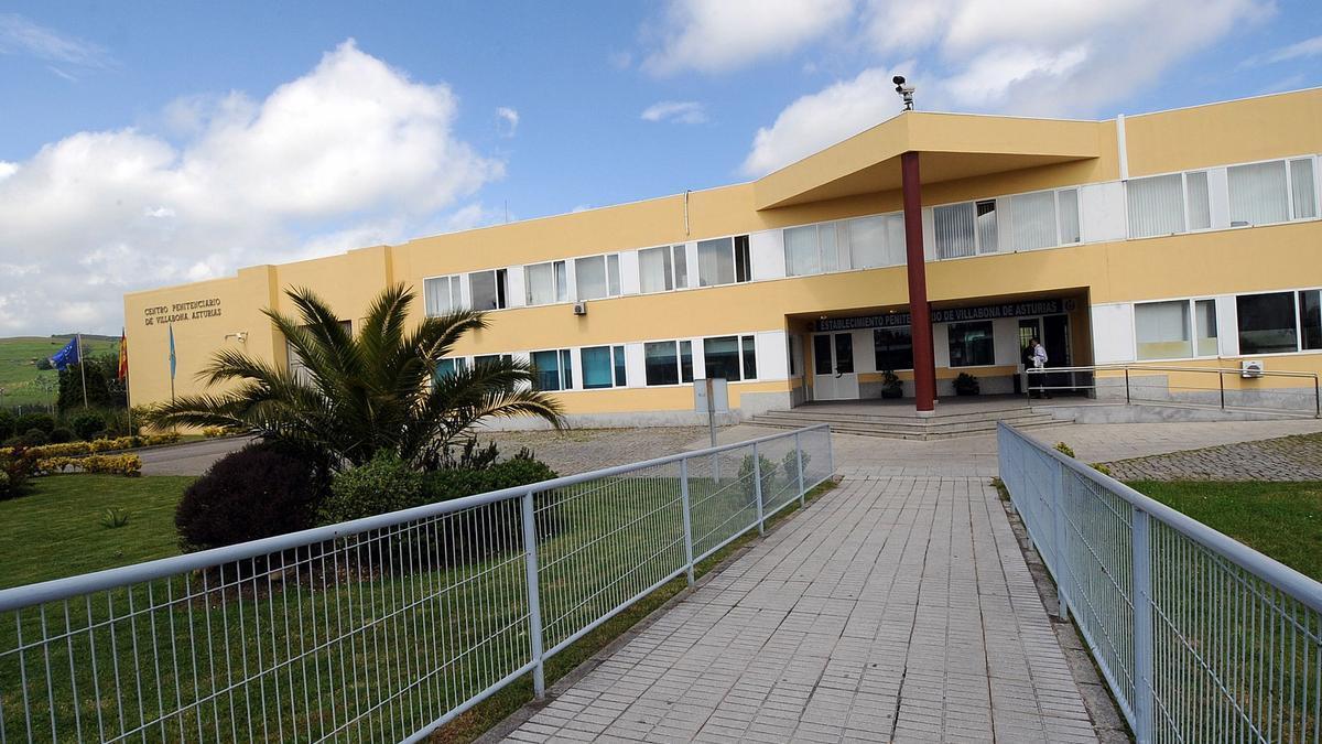 La entrada a la cárcel de Asturias.