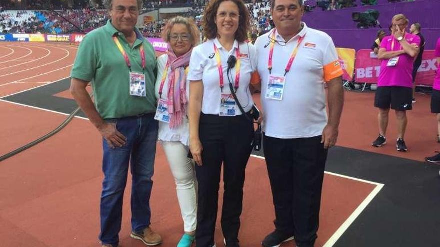 La coruñesa Dolores Rojas, secretaria del jurado de marcha