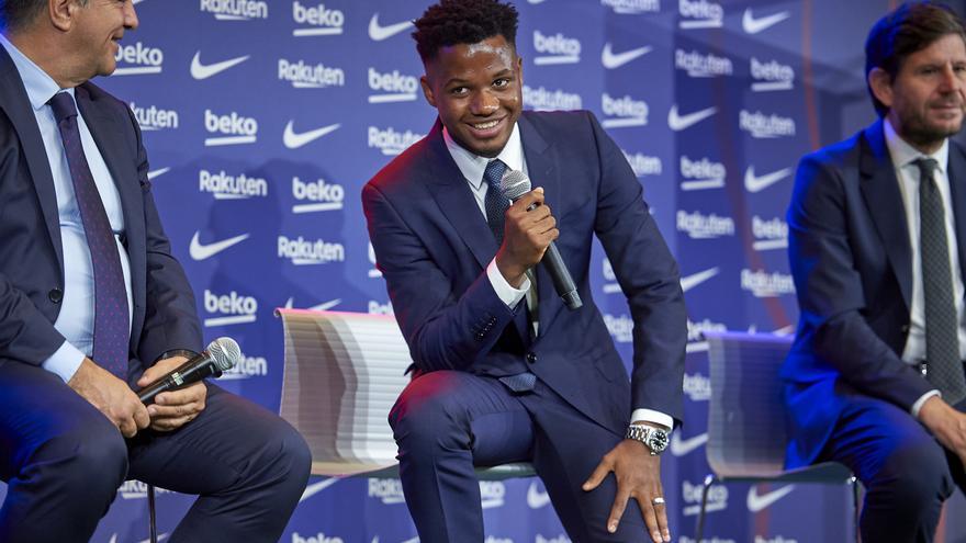"""Ansu Fati: """"Hubo ofertas pero mi primera opción siempre fue el Barça"""""""