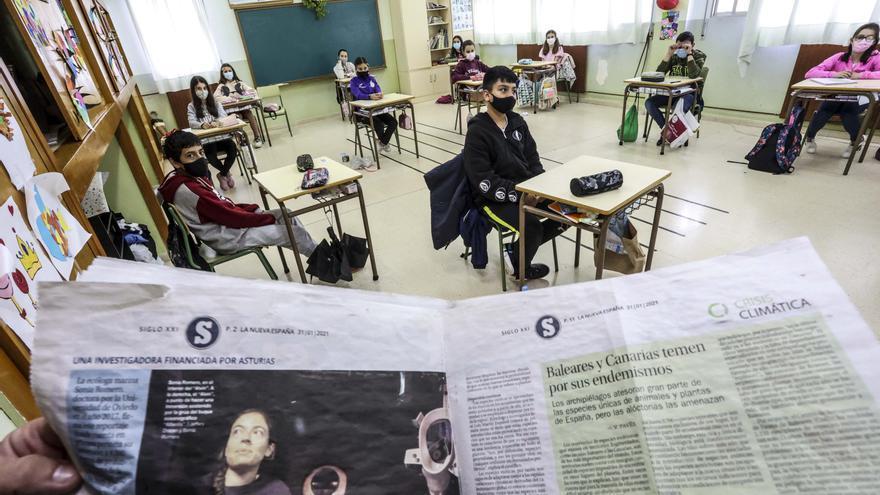 LA NUEVA ESPAÑA, un libro de texto más para los niños del colegio de Villafría