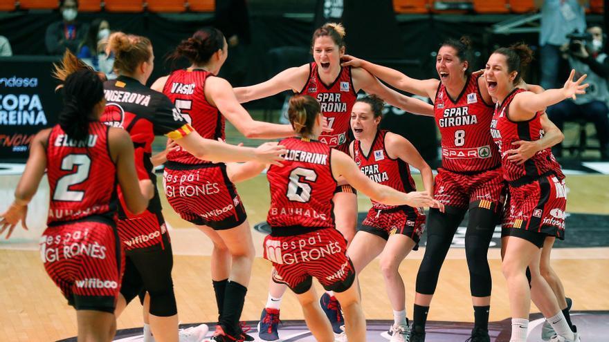 El Spar Girona conquista su primera Copa de la Reina ante el Valencia Basket
