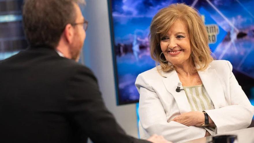 """María Teresa Campos, sobre Ana Rosa en 'El hormiguero': """"Veo el principio de su programa, luego cambio de cadena"""""""
