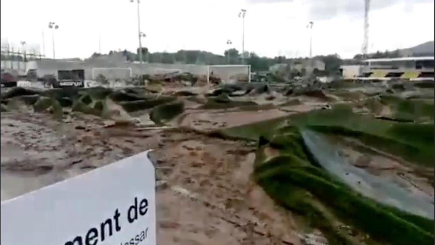 El campo del Cardassar: de la destrucción por la riada a acoger a un equipo de Primera