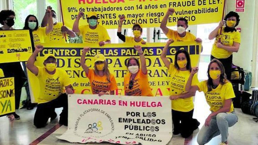 Iceta mantiene el veto a un acuerdo canario con los funcionarios interinos