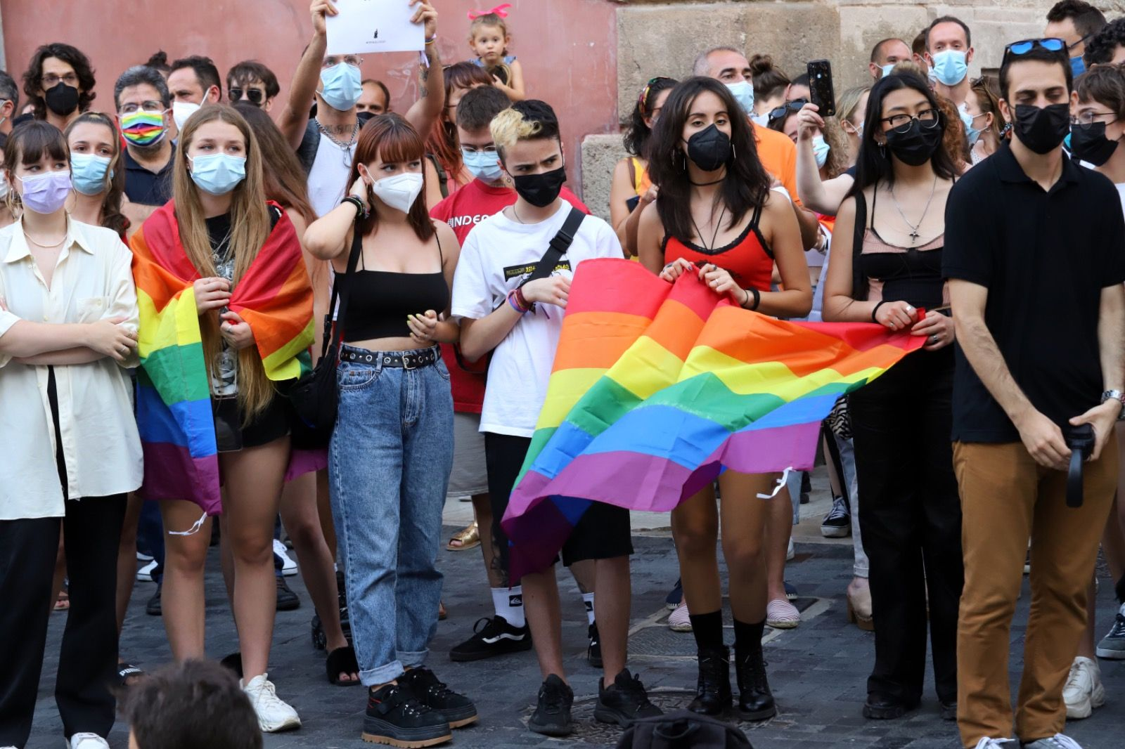 Concentración en Murcia para pedir justicia por el asesinato homófobo de Samuel