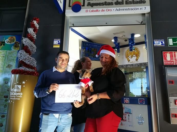 Estos son los afortunados de la Lotería Navidad en Canarias
