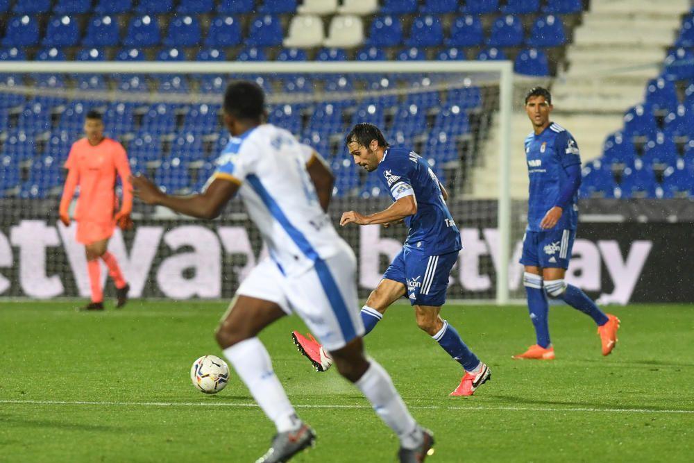 El partido entre el Leganés y el Real Oviedo, en imágenes