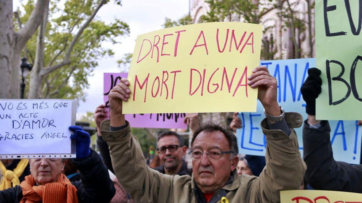 Protesta a favor de l'eutanàsia.