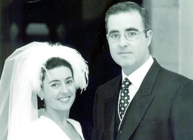 Rosario Porto y Alfonso Basterra, separados desde hace un año, el día de su boda.