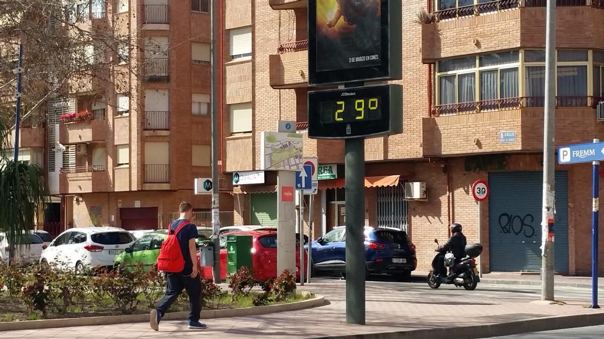 Termómetro 29 grados