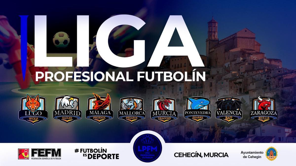 Cartel del torneo de futbolín.