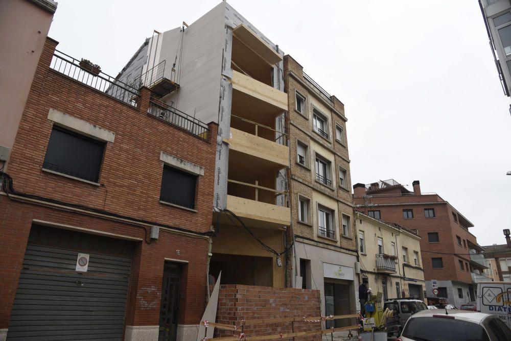 Construeixen a Manresa el primer bloc de pisos fet