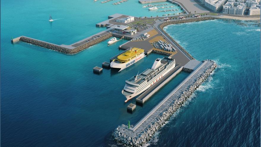 La nueva dársena comercial en el puerto de Corralejo supondrá una inversión de 33 millones de euros