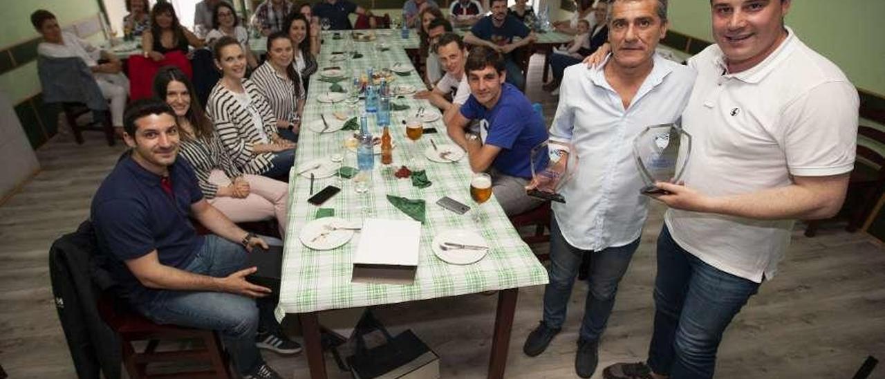 Reboredo y Alejandro García fueron homenajeados el pasado fin de semana. // Bernabé/Cris M.V.