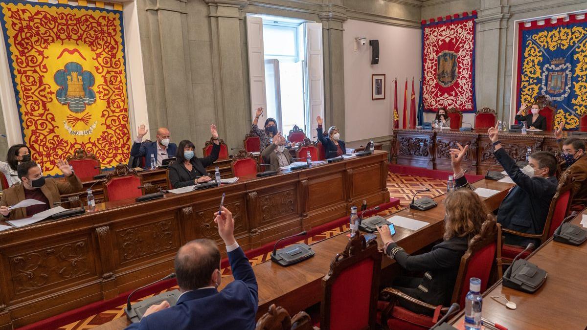 Pleno Extraordinario del Ayuntamiento de Cartagena.