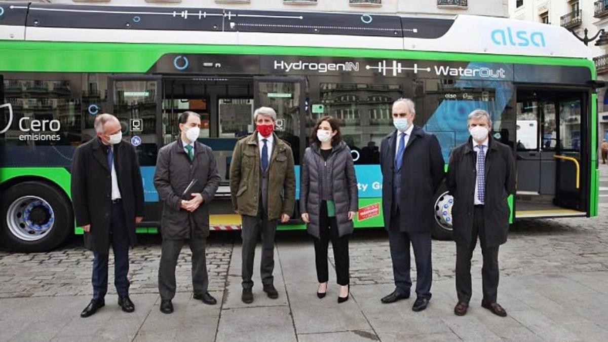 Presentación en Madrid del autobús de Alsa propulsado por hidrógeno. | Alsa