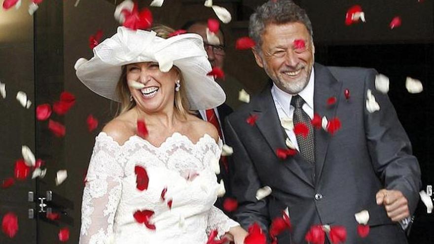 Trinidad Jiménez se casa con un cámara de TVE