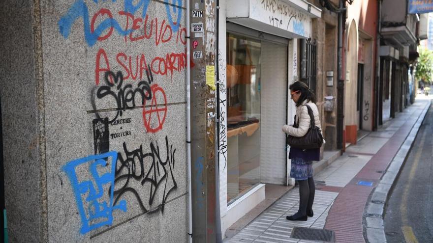 Pintadas en A Coruña