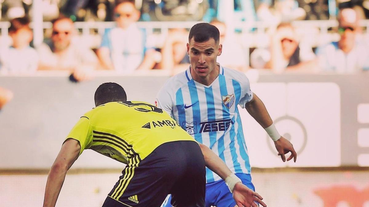 Buenacasa, en un partido con el Málaga.