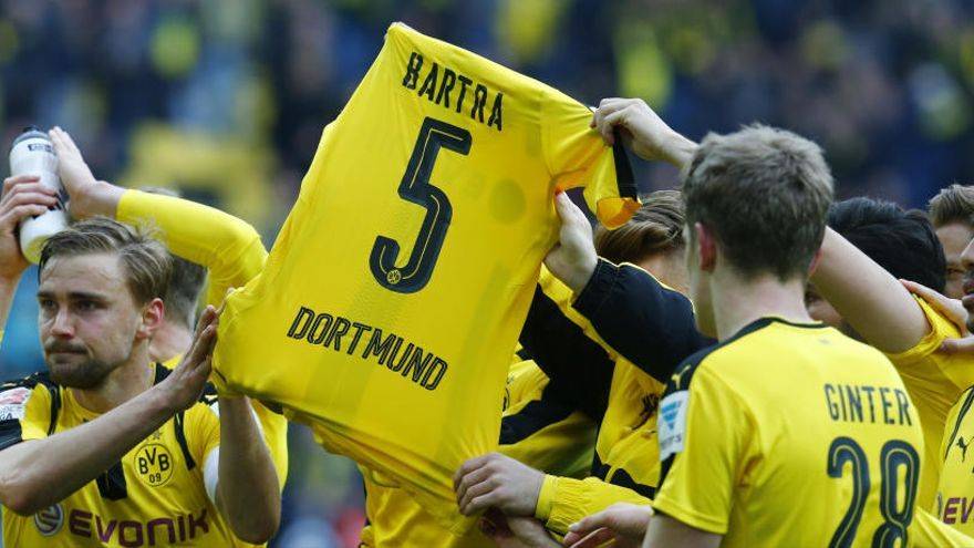 Marc Bartra, protagonista en el partido del Borussia Dortmund