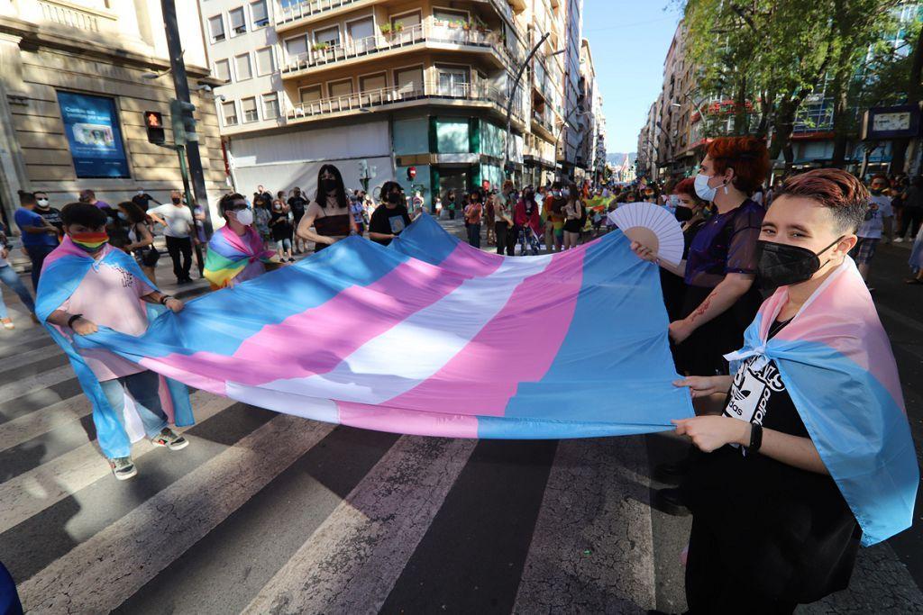 Marcha del colectivo LGTBI+ en Murcia