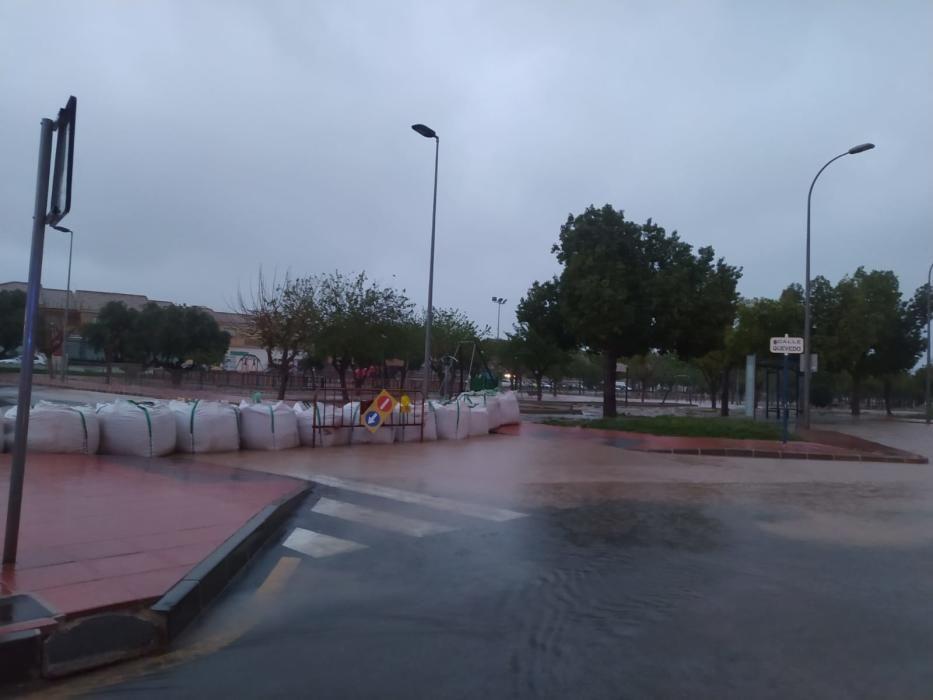 San Javier, anegada por el agua