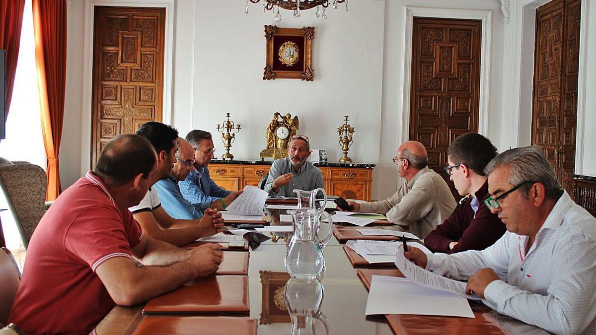 Reunión de representantes de los mancomunados en el Ayuntamiento de Zamora el año pasado.