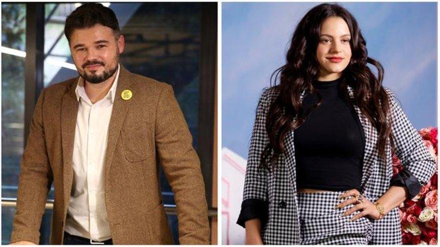 Rosalía pide una recomendación de una película y Rufián sorprende con su respuesta