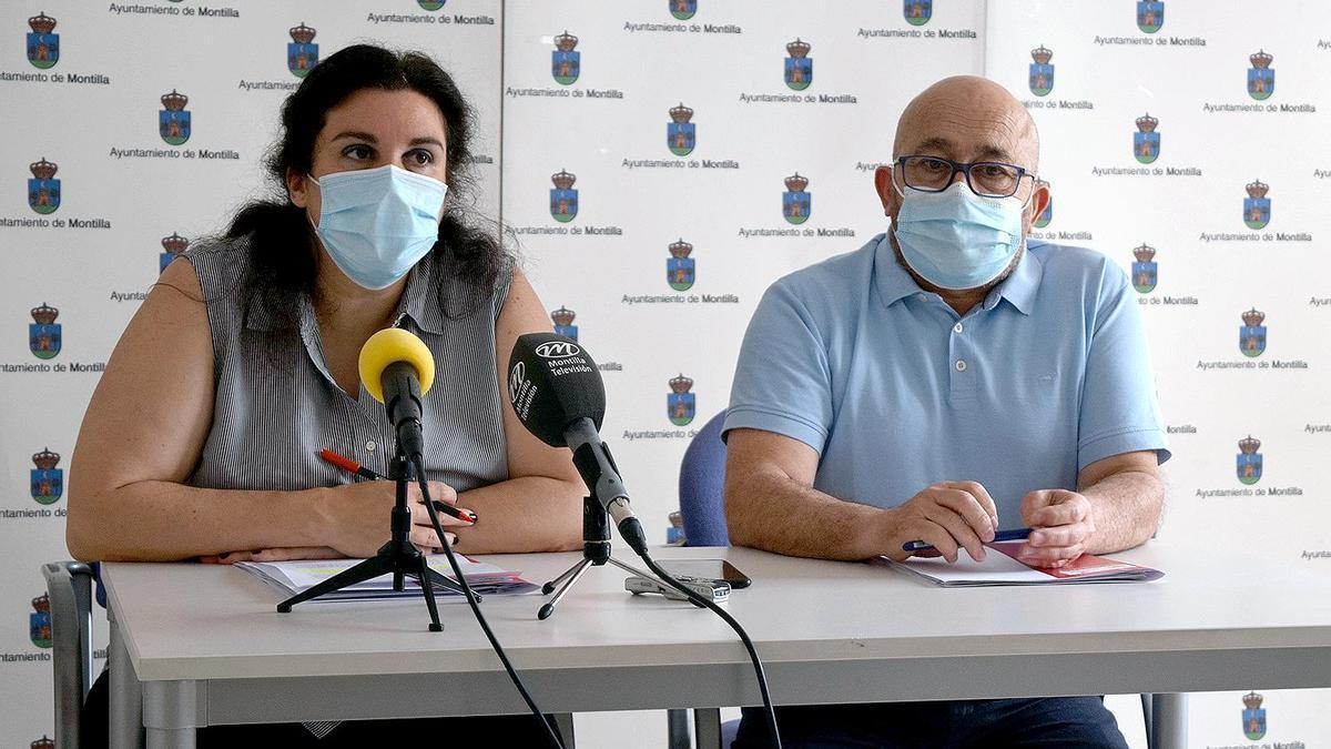 Los concejales Rodas y Lucena, de IU de Montilla.