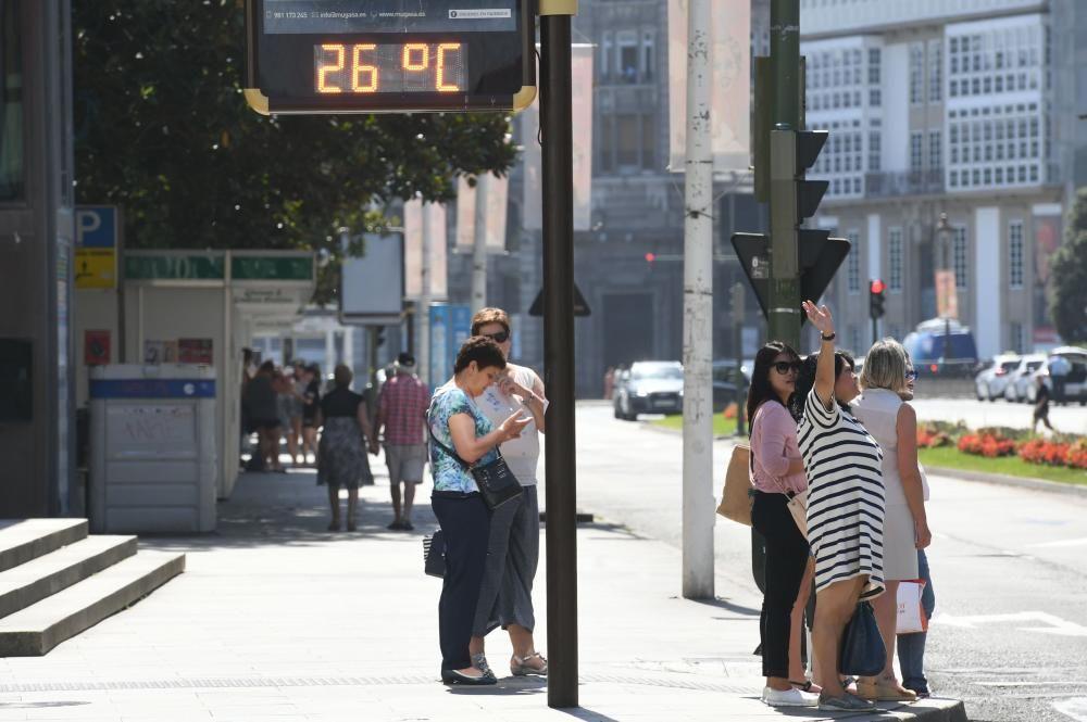 A Coruña roza los 30º con la ola de calor