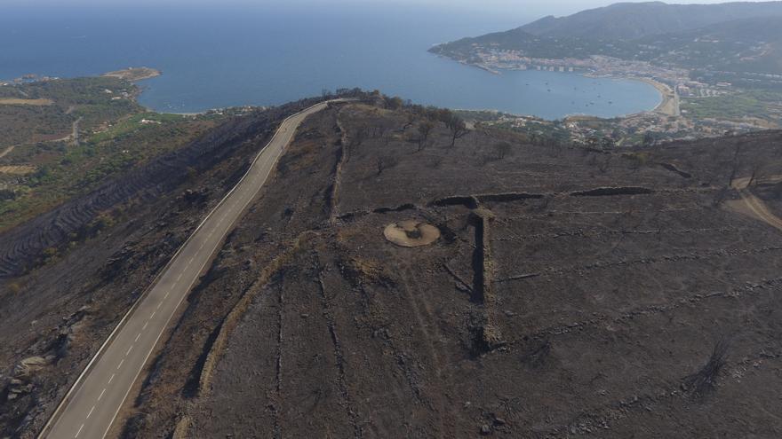 L'incendi del Cap de Creus a vista de dron