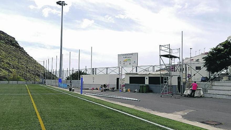 Mejora del vallado perimetral del campo de fútbol de Valleseco