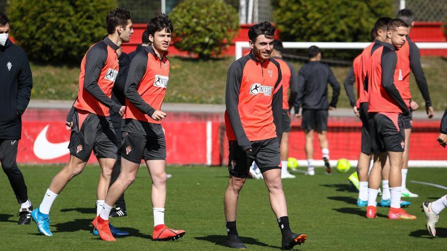 Guille Rosas, Gragera y Campuzano se entrenan y apuntan al derbi