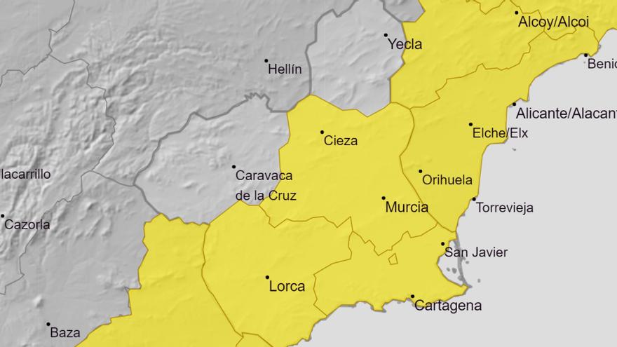 Meteorología amplía el aviso amarillo por tormentas para mañana