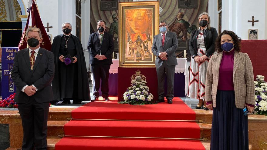 La Virgen de Las Angustias Coronada protagoniza el cartel anunciador de la Semana Santa de Vélez-Málaga