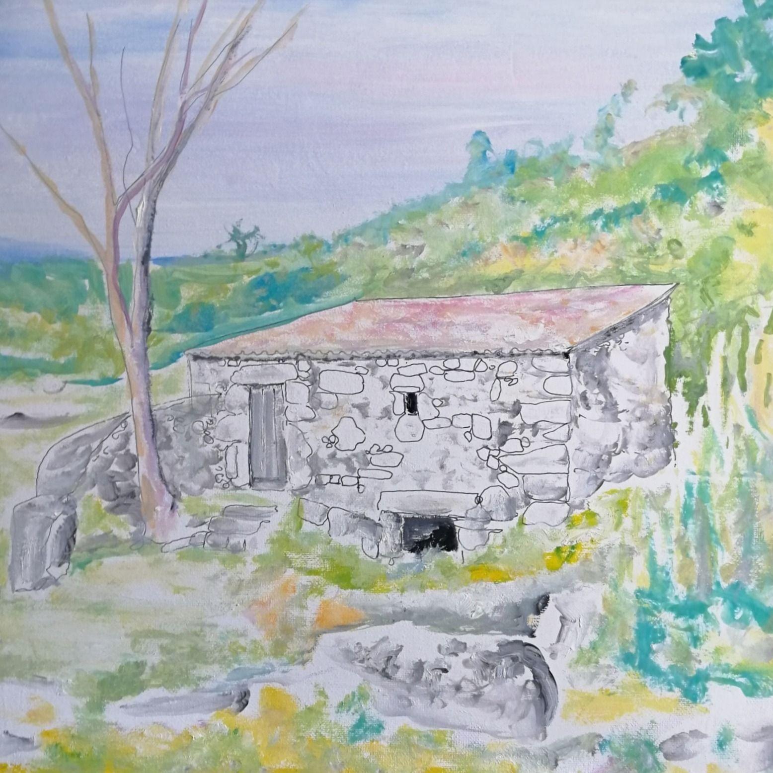 Una obra de la pintora burgalesa Verónica Alcácer