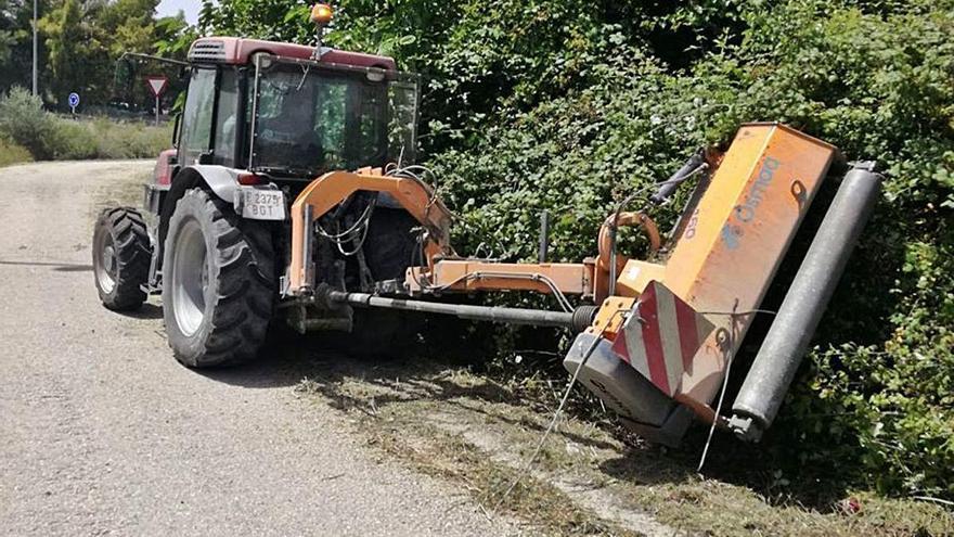 Desbroce de caminos en Agullent