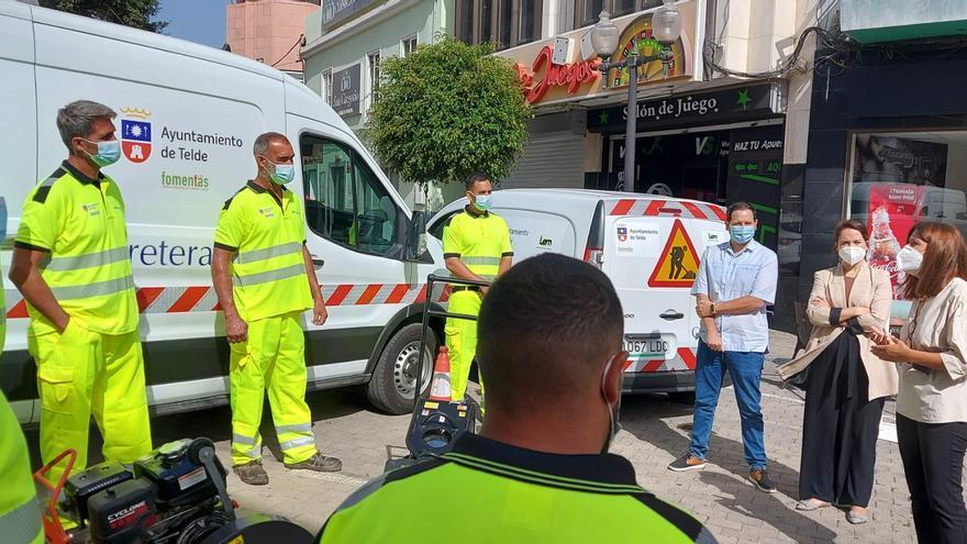 Telde contrata un servicio anual para rebachear las carreteras