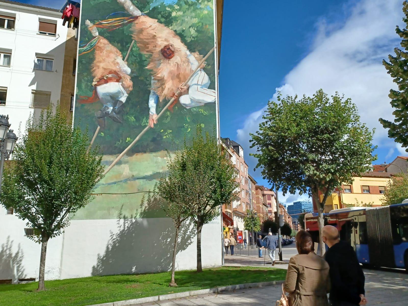 El mural de los Sidros de Valdesoto