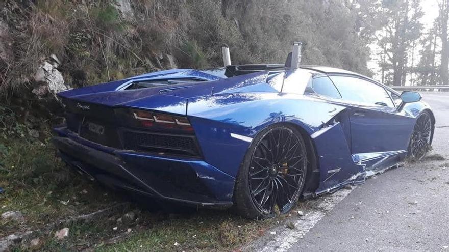 El accidente de un Lamborghini en El Fito, con un herido, destapa posibles carreras