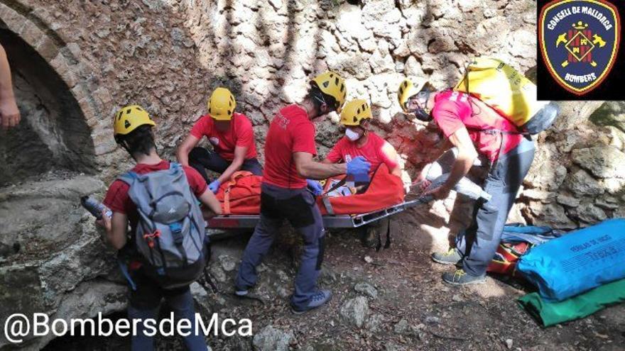 Herida grave una excursionista al caer desde 10 metros en Bunyola