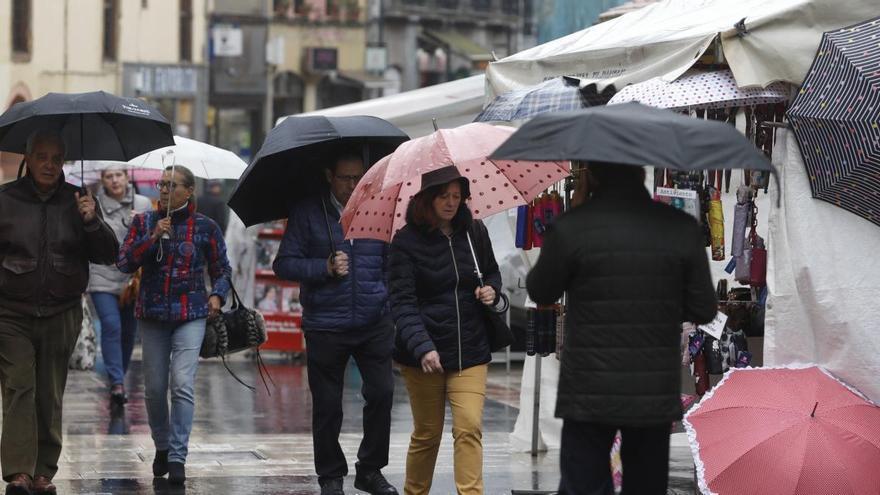 Fin de semana de paraguas y bajas temperaturas en Asturias