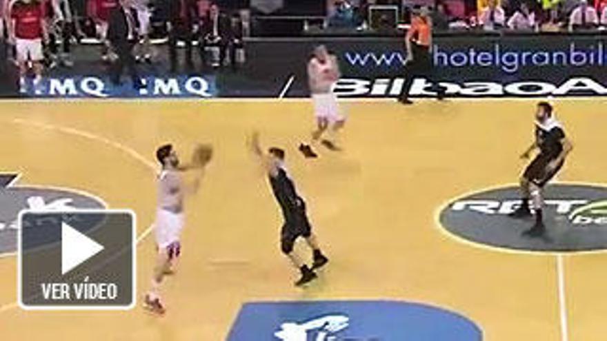 El increíble triple de Sastre que deja al Bilbao Basket sin playoff