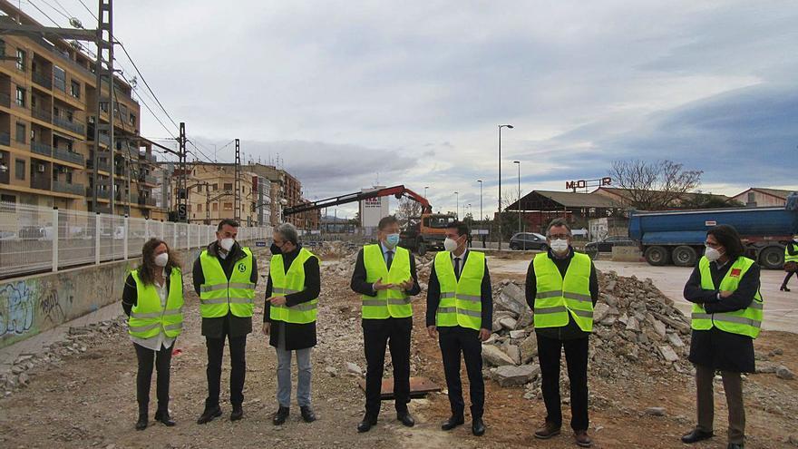 La Generalitat reanuda el soterramiento del metro en Burjassot 10 años después