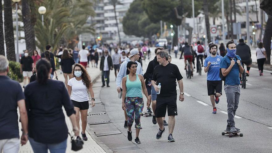 La pandemia redujo en Baleares los valores de población flotante del pasado mayo a niveles del 2005